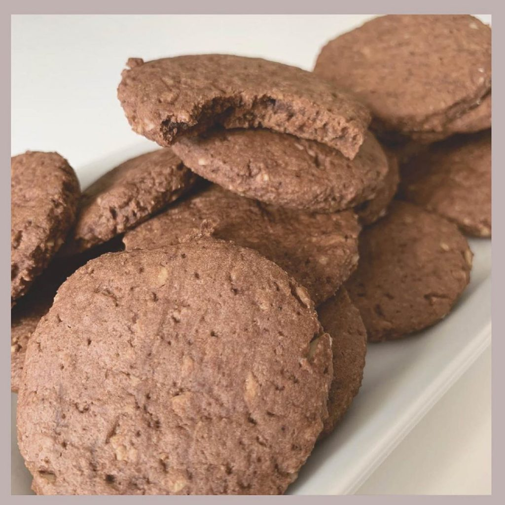 Galletas con almendras y chocolate fit